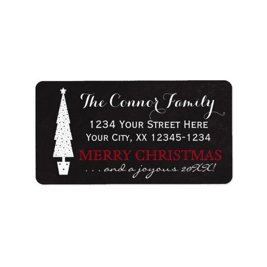 Chalkboard Christmas Tree / Merry Christmas Address Label
