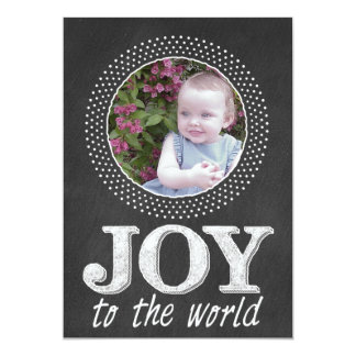 Chalkboard Christmas typography Photo Card 5x7 Announcement