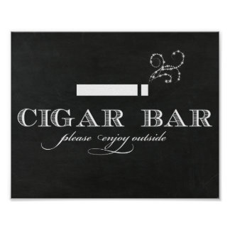 Chalkboard Cigar Bar Sign