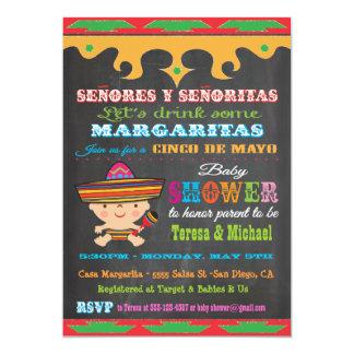 Chalkboard Cinco de Mayo Baby Shower invitations