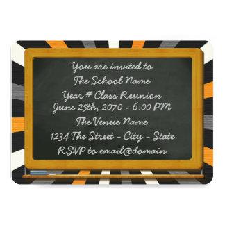 """Chalkboard Class Reunion 5"""" X 7"""" Invitation Card"""