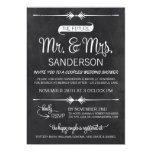 Chalkboard Couples Wedding Shower Personalized Invitations