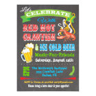 Chalkboard Crawfish Boil Party Invitations