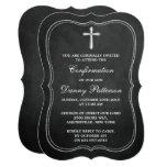Chalkboard Cross Holy Communion Or Confirmation 13 Cm X 18 Cm Invitation Card