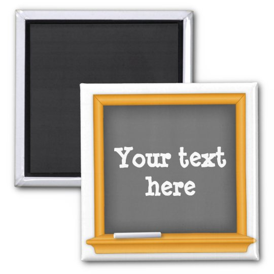 Chalkboard, Customise your text Magnet