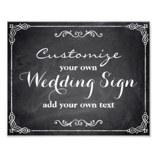 Chalkboard - Customize your own wedding sign - Photograph
