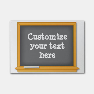 Chalkboard Customize your text Post-it® Notes