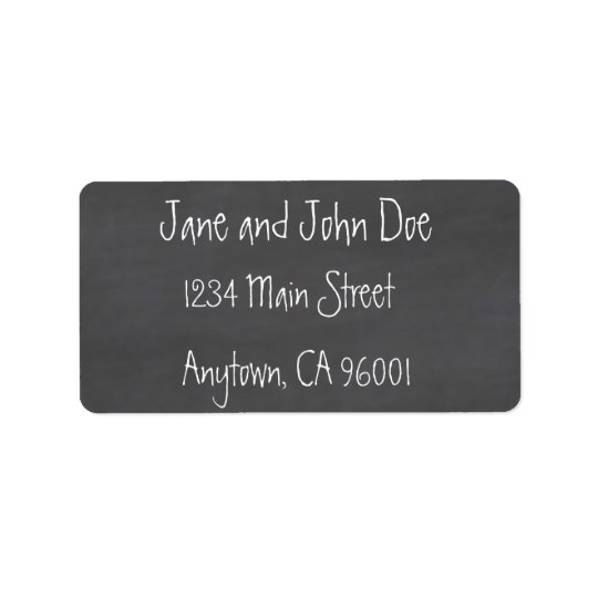 Chalkboard CustomizeABLEs Address Label