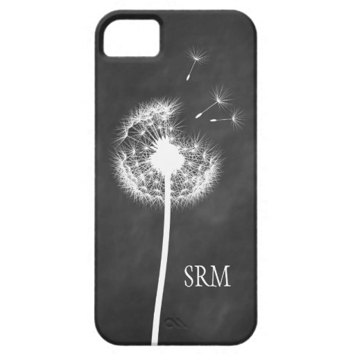 Chalkboard Dandelion iPhone 5 Case