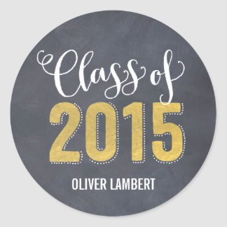 Chalkboard Delight Graduation Stickers Golden