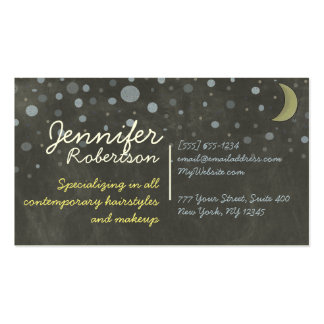Chalkboard Design with Stars, Moon, Colored Chalk Pack Of Standard Business Cards