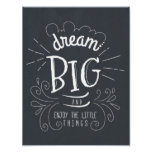 Chalkboard Dream Big Quote Art Print