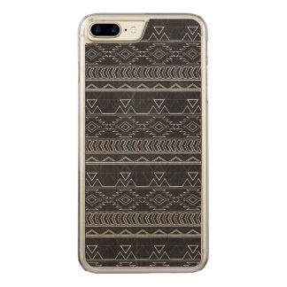 Chalkboard Effect Aztec Tribal Stripes Carved iPhone 8 Plus/7 Plus Case