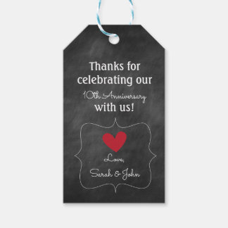 Chalkboard Favour or Gift Tag | Anniversary Party