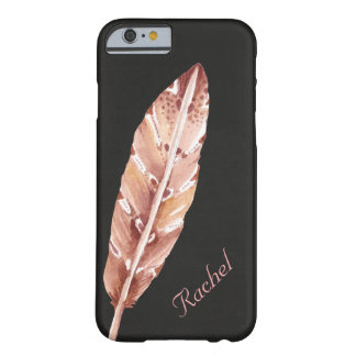 Chalkboard Feather Personalized Barely There iPhone 6 Case