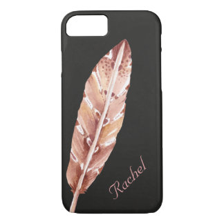 Chalkboard Feather Personalized iPhone 8/7 Case
