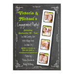 Chalkboard Film Strip Engagement Party Invitations