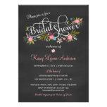 Chalkboard Floral Bridal Shower Invitations