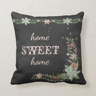 Chalkboard Floral Corner & Border Pillow