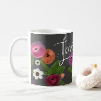 Chalkboard Floral LOVE Mug