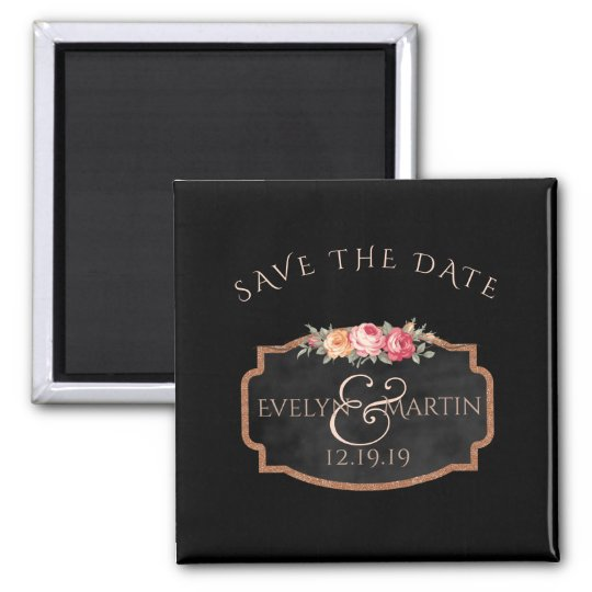 Chalkboard Floral Wedding | Custom Save the Date