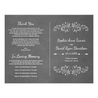 Chalkboard Flourish and Swirl | Wedding Program 21.5 Cm X 28 Cm Flyer