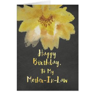 Chalkboard Flower Mother-In-Law Birthday Card