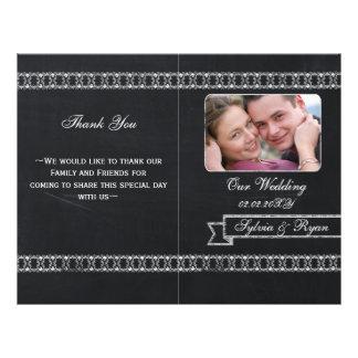 chalkboard Folding Photo wedding programs Flyer