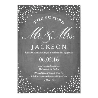 Chalkboard Future   Engagement Party Card