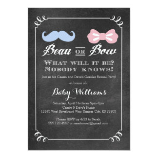 Chalkboard Gender Reveal Baby Shower Invitation