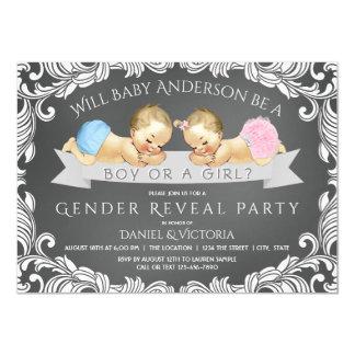 Chalkboard Gender Reveal Shower Invitation