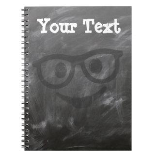 Chalkboard Glasses Smiley Notebooks