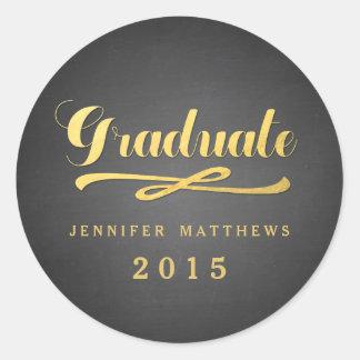 Chalkboard Gold Foil Glamor | Graduation Sticker