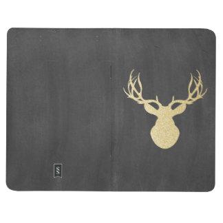 Chalkboard Gold Glitter Deer Journal