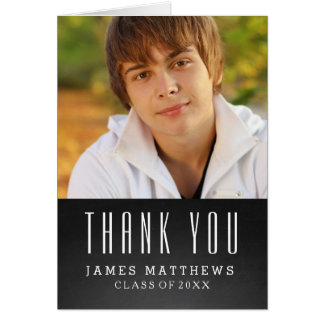 CHALKBOARD GRAD | GRADUATION THANK YOU CARD