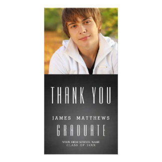 CHALKBOARD GRAD | GRADUATION THANK YOU PHOTO CARD