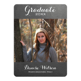 Chalkboard Graduation Photo Invitation