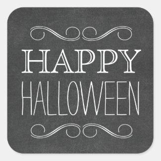 Chalkboard Happy Halloween Typography Stickers