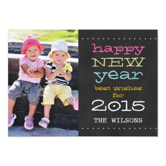 Chalkboard Happy New Year 2015 Holiday Photo Card 13 Cm X 18 Cm Invitation Card