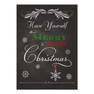 Chalkboard-Have Yourself a Merry & Bright Christma Poster