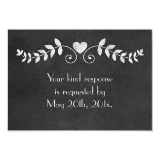 Chalkboard Heart Wedding 9 Cm X 13 Cm Invitation Card