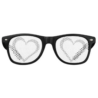 Chalkboard Heart Wedding Favor Party Sunglasses