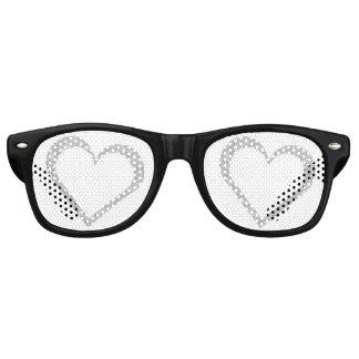 Chalkboard Heart Wedding Favor Party Sunglasses