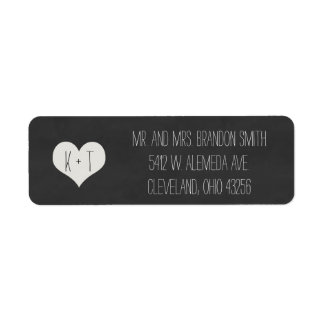 Chalkboard Heart Wedding Labels