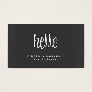Chalkboard Hello Business Cards / Peach