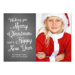 Chalkboard Holiday Photo Christmas Wishes Coral 13 Cm X 18 Cm Invitation Card