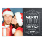 CHALKBOARD HOLIDAYS | HOLIDAY PHOTO CARD 13 CM X 18 CM INVITATION CARD