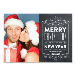 CHALKBOARD HOLIDAYS | HOLIDAY PHOTO CARD PERSONALIZED INVITES