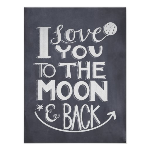 Chalkboard I Love You To The Moon And