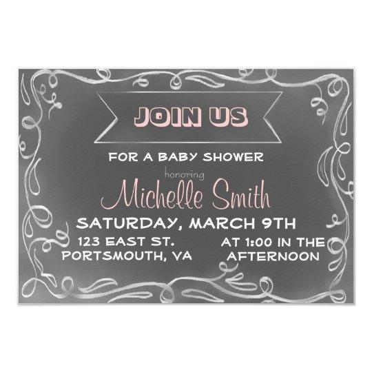 Chalkboard Inspired Invitation